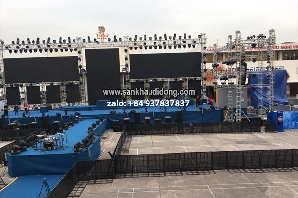Cho thuê sân khấu lắp ghép di động giá rẻ