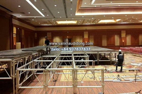 Sân khấu lắp ghép di động module 1m x 2m